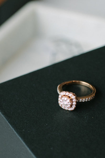 BLCKLAMB Diamond Collection Rose Gold Ring