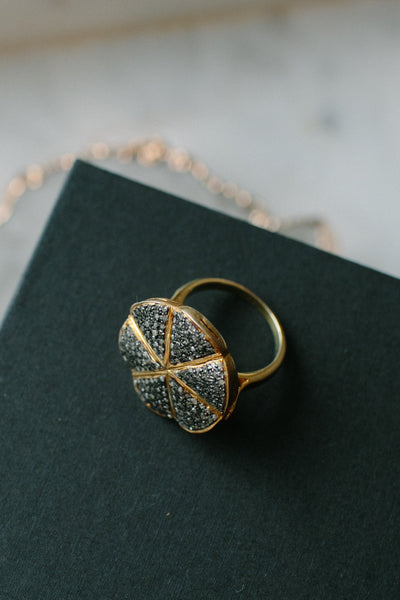 BLCKLAMB Diamond Collection Flower Ring