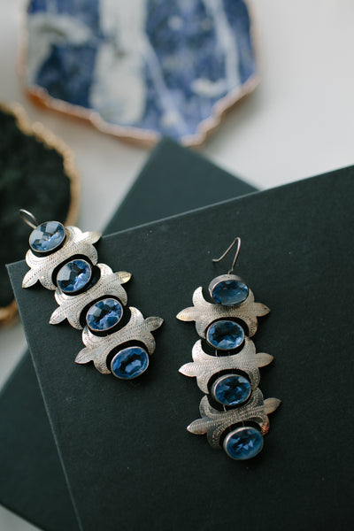 Blcklamb Sterling Silver Sapphire Earrings