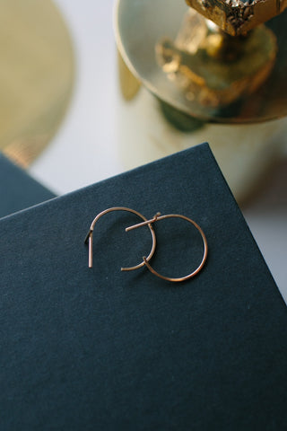 Annika Inez Gold Fill Crossover Hoop Earrings