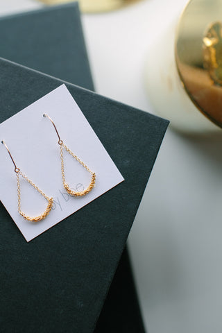 By Boe Gold Fill Wrapped Chain Earrings