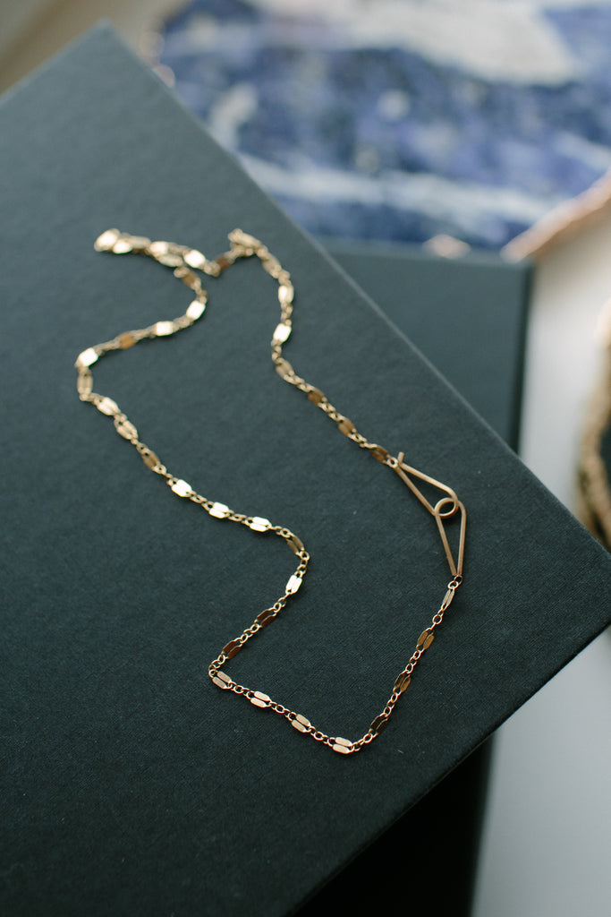 By Boe Gold Fill Razor Chain Necklace
