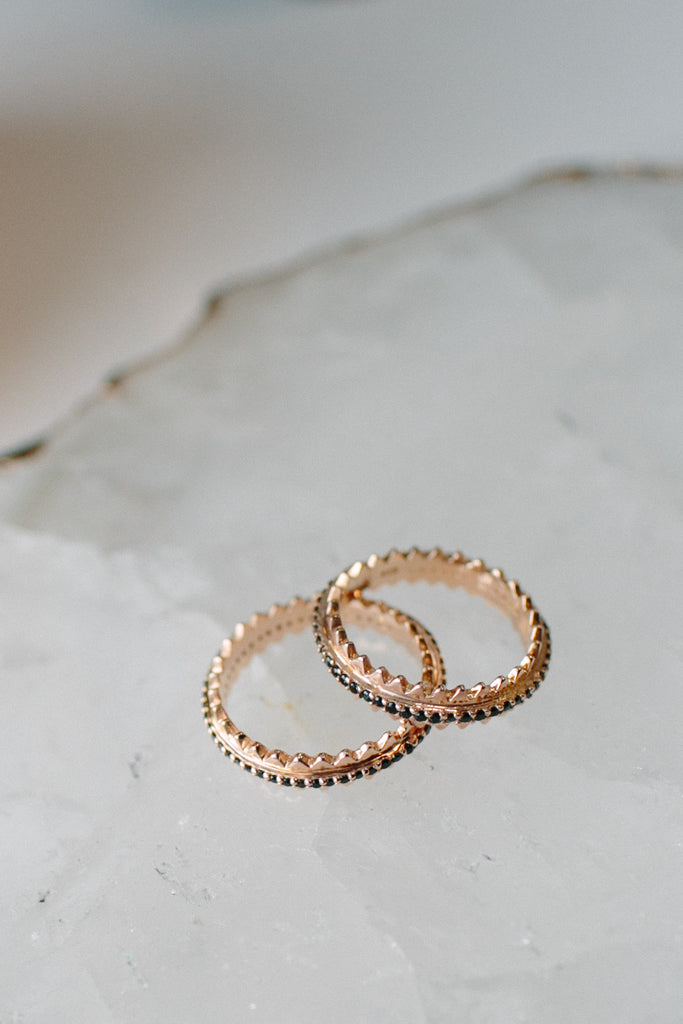 Rose Gold Pave Rings