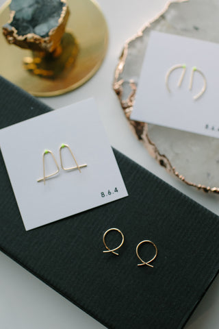 864 14k Gold Filled Earrings in Assorted Shapes