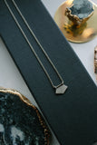 Jane Diaz Sterling Signet Necklace