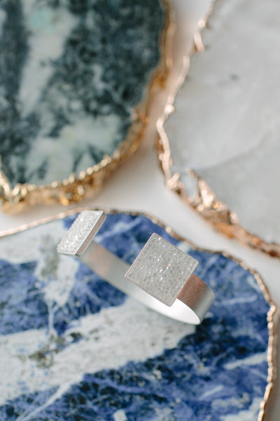 Petra Meiren Swarovski Crystal Square Bangle