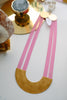 PETRA MEIREN Pink Silicone Half Moon Necklace with Brass