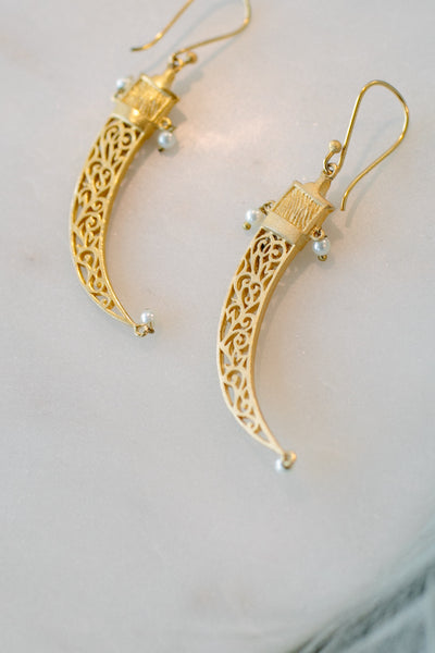 BLCKLAMB Gold Vermeil with Pearl Earrings