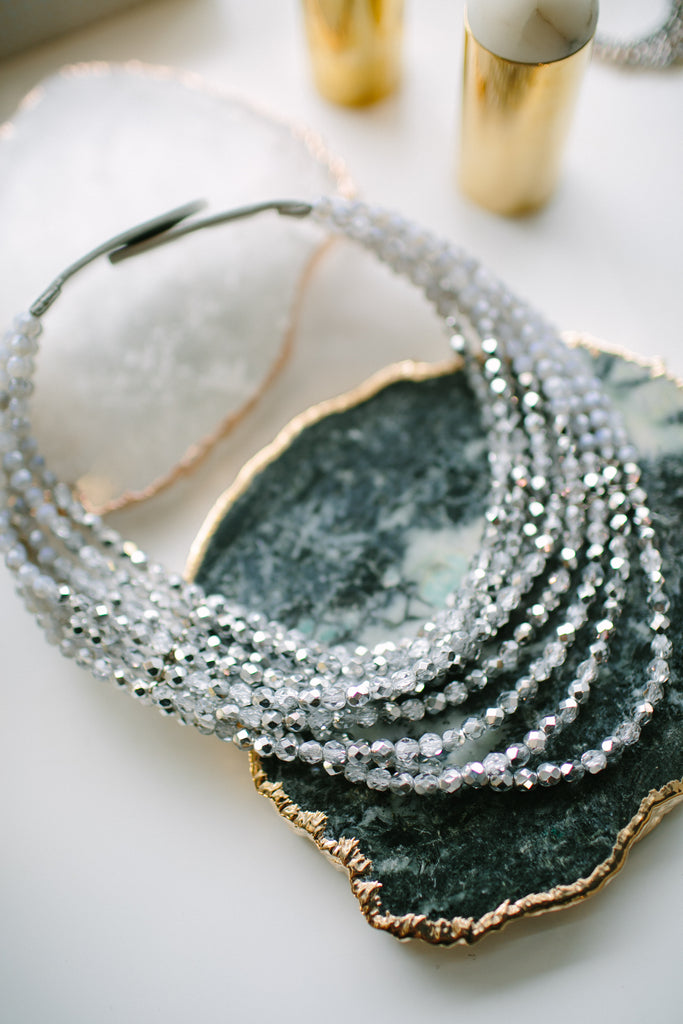 Fairchild Baldwin Masai Necklace in Iridescent Grey