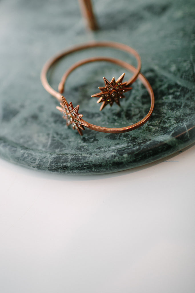 Copper Star Burst Cuff