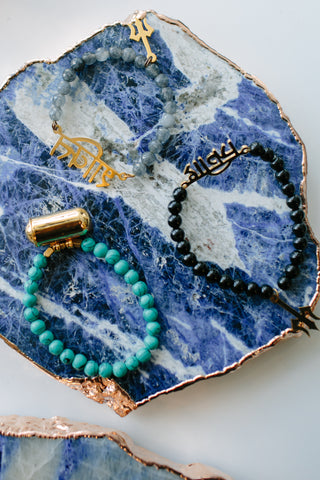 MILAN Lapis and Crystal Dainty Bracelet