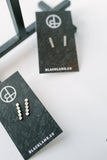 Jane Diaz Bar Earrings in Gold or Silver