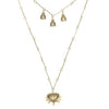 Alkemie gold patina Lotus Buddha necklace