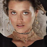 AMBER SCEATS Naomi Double Chain Choker in Gold