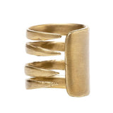 Alkemie gold patina Fork Ring