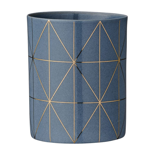 Porcelain Grey & Gold Votive