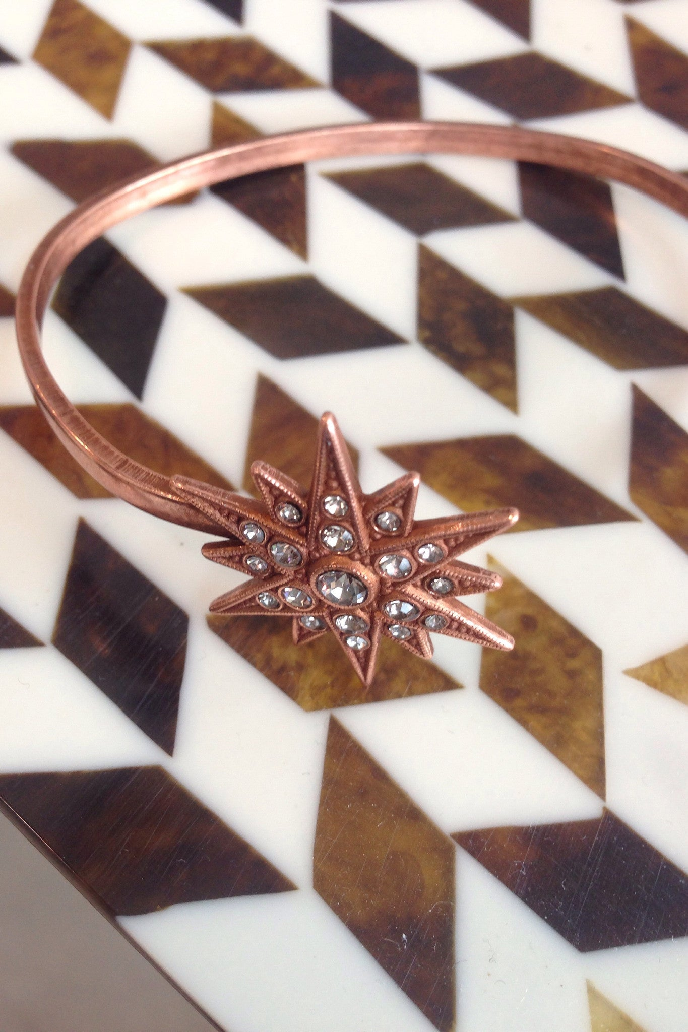 copper star burst  Cuff.