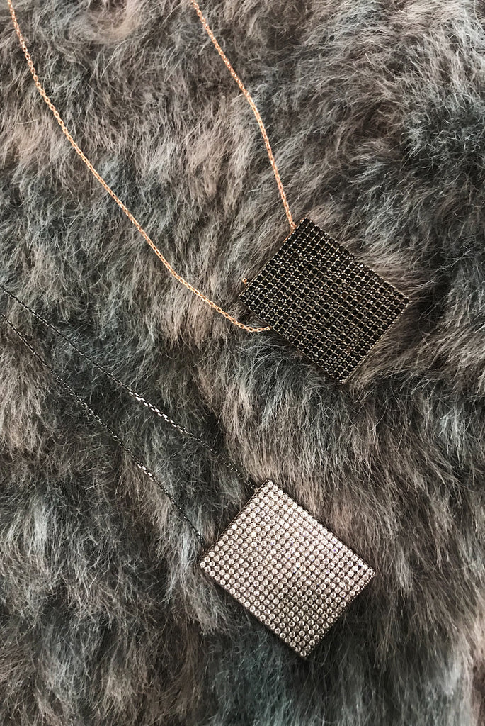 DL Rectangular Pave Necklace