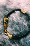 Bird Skull Leather Bracelet