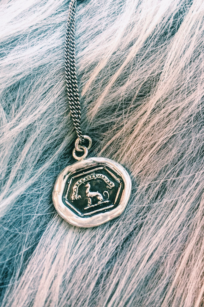 "PYRRHA ""Strive For Excellence"" Talisman Necklace"