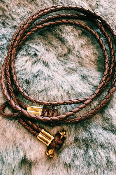 BRAIDED LEATHER LARIAT NECKLACE – BLACKLAMB