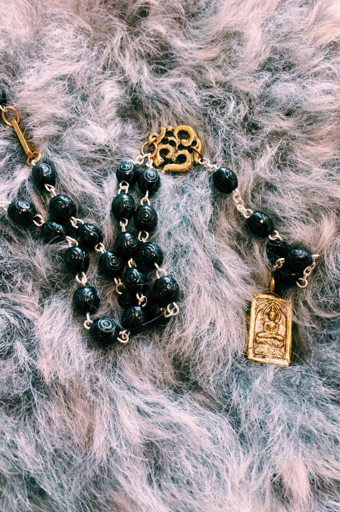 OM ROSARY NECKLACE