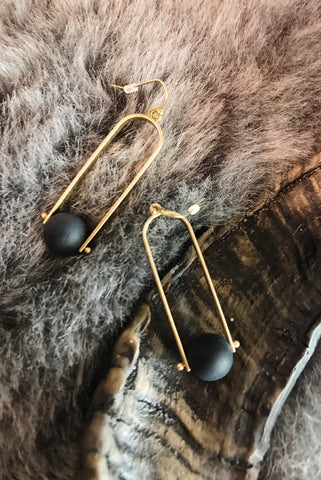 Pendulum and Ball Earrings