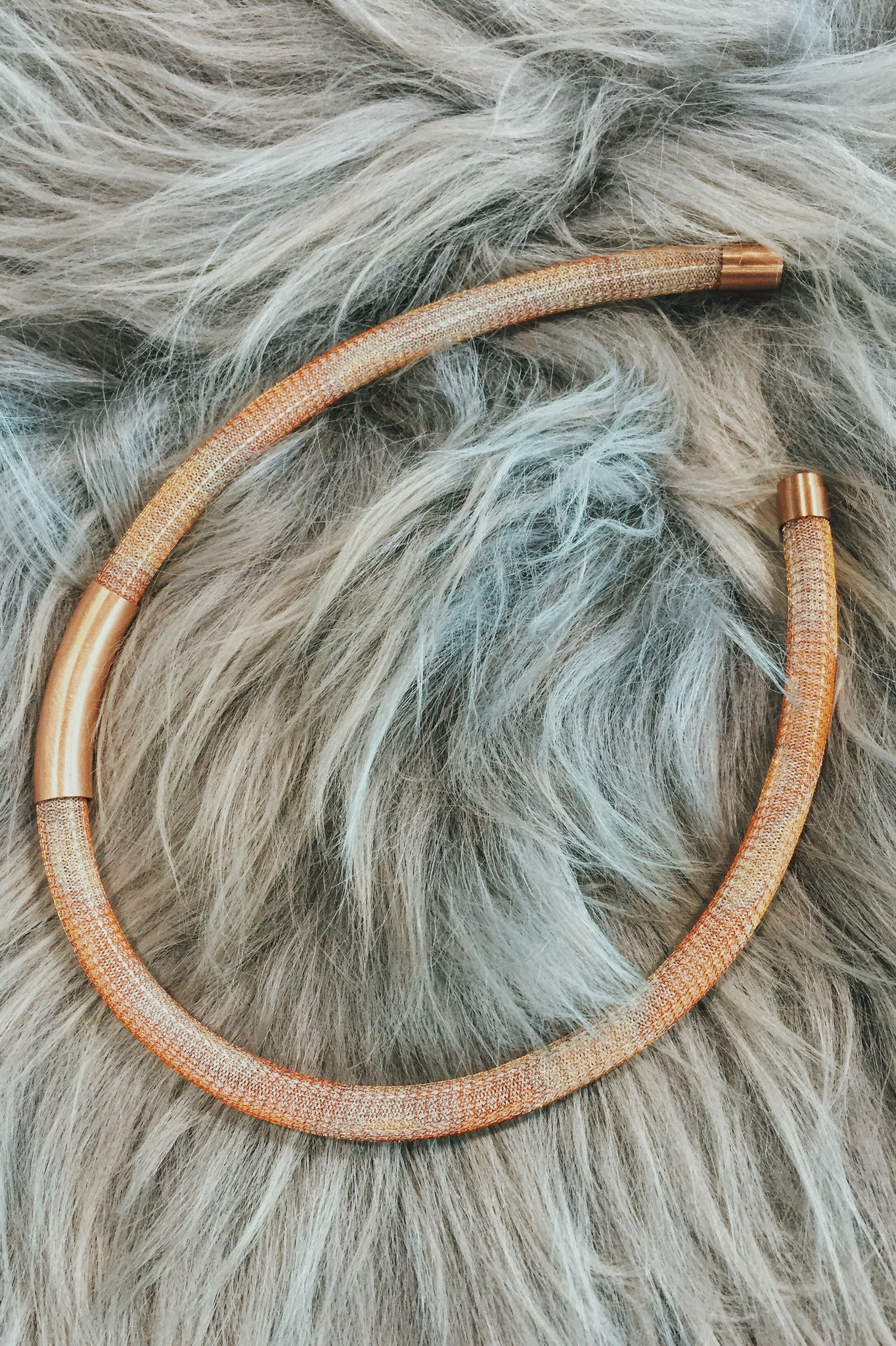 PETRA MEIREN Mesh / Copper Tube Necklace