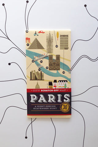 PARIS scratch off map