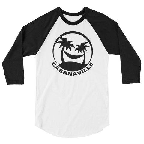 Black on White 3/4 Sleeve Shirt