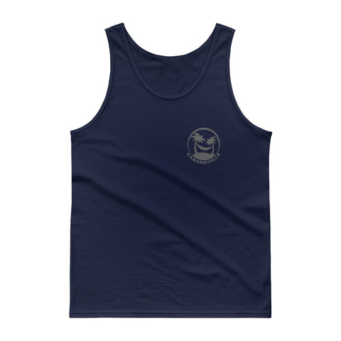 Gray on Navy Classic Tank