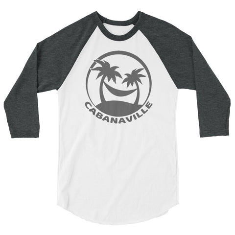 Gray on White 3/4 Sleeve Shirt