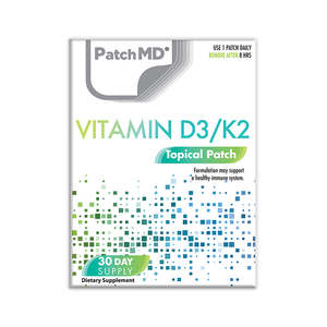 D3/K2 Plus | Topical Patch 30 Day Supply | 30 Patches