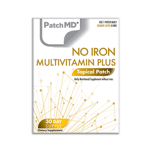 No Iron MultiVitamin Plus Topical Patch 30 Day Supply 30 Patches