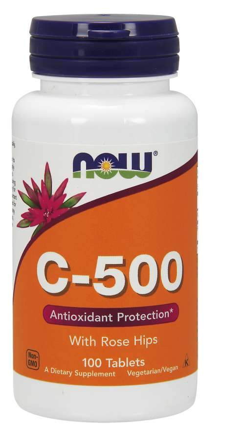 Vitamin C-500 with Rose Hips 100 Tablets