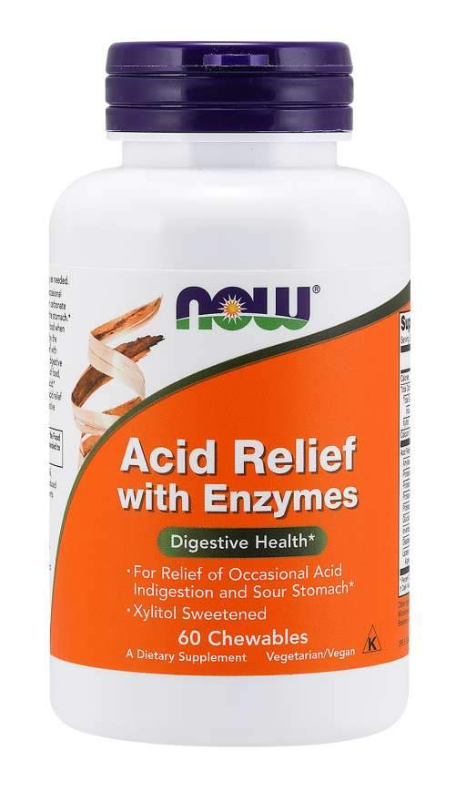 Acid Relief with Enzymes 60 Chewable Tablets