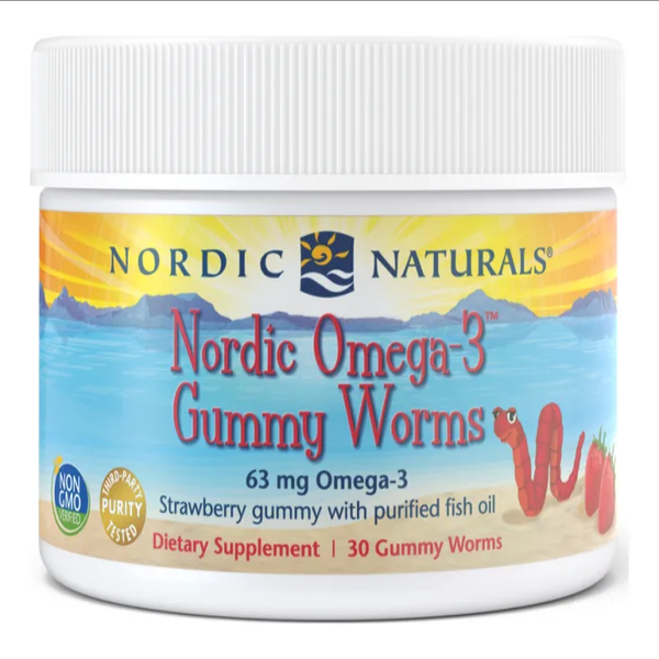 Nordic Omega-3 Gummie Worms 30 Gummies