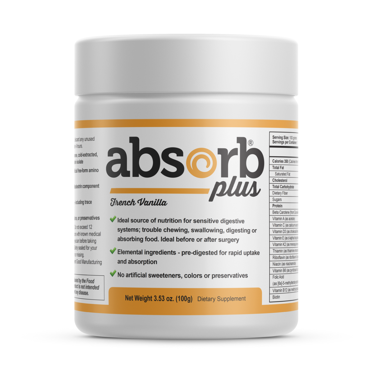Absorb Plus | French Vanilla | Sample Size | 100g