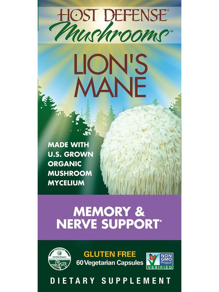 Lion's Mane Memory Nerve Support 60 Capsules