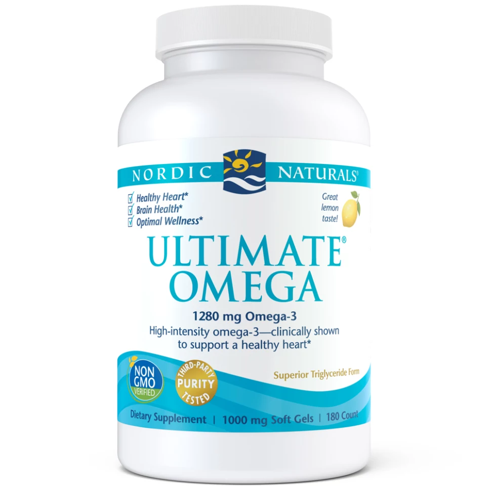 Ultimate Omega | 1280mg | Lemon Flavour | 180 Softgels