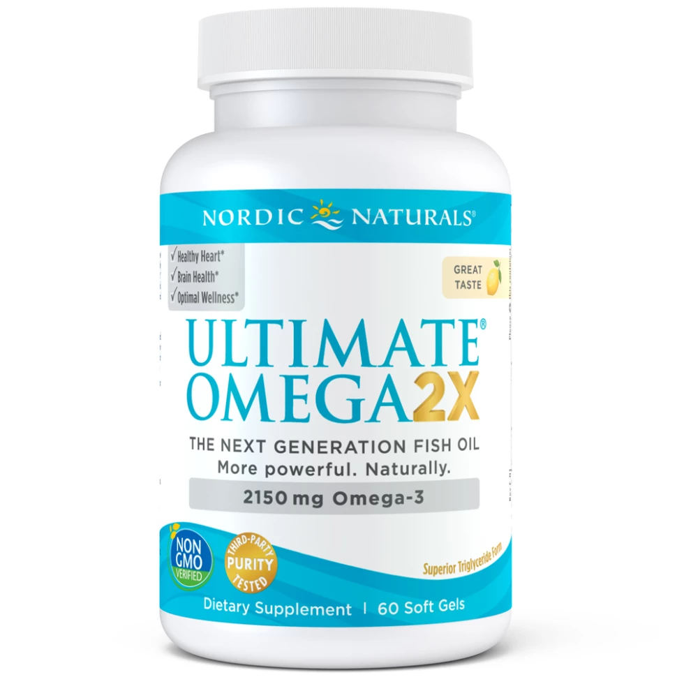 Ultimate Omega 2X with Vitamin D3 2150mg Lemon Flavour 60 Softgels
