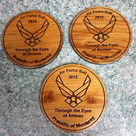 Air Force Ball Custom Personalized Coasters
