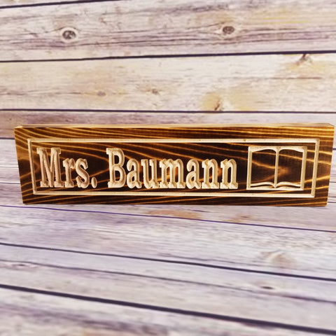 Personalized Nameplate Desk Sign