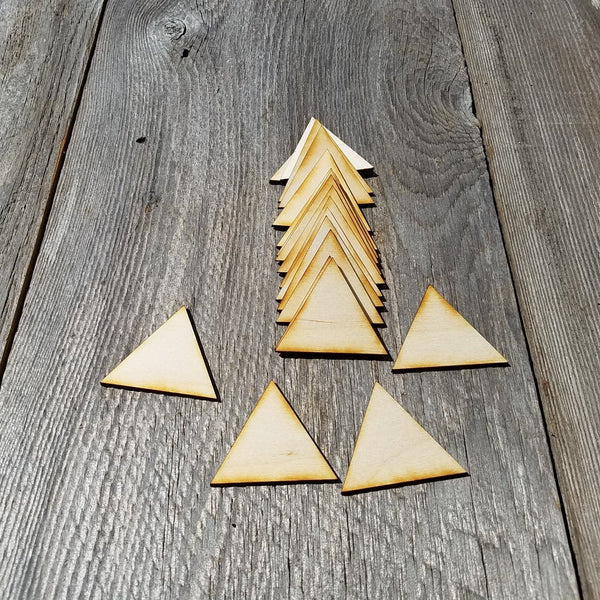 Wood Cutout Triangles - 2 Inch - Unfinished Wood - Lot of 12 - Wood Blank Craft Projects - DIY - Make Your Own - Teacher Supplies