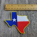 Texas Patch - TX Flag State Shape - Lonestar