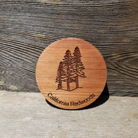 Redwood Trees Wood Coasters - Set of 4 - California Redwood Laser Engraved