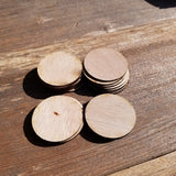 Wood Cutout Circles - 2 Inch - Unfinished Wood - Lot of 24 - Craft Projects - DIY
