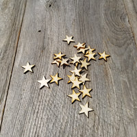 Wood Cutout Stars - 1 Inch - Unfinished Wood - Lot of 24 - Craft Projects - DIY