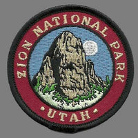 Utah Patch – UT Zion National Park - Travel Patch Iron On – 2.5""