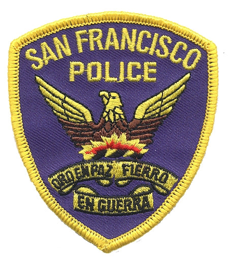 San Francisco Patch - California Souvenir - Police Shield